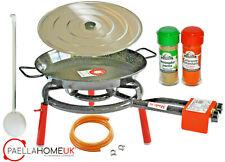 50cm Enamelled Paella Pan +35cm 2Ring Gas Burner Complete Set +PAELLA GIFT