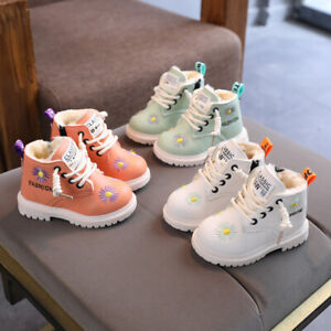 Winter Kids Warm Snow Boots Ankle Boots Boys Girls Chelsea Fur Lined Shoes