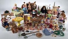 Dollhouse LOT Dolls Furniture Family Baby Japan Vintage Fisher Price Mattel Tomy