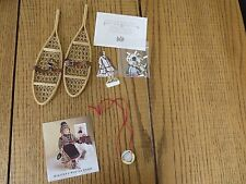 American Girl Doll Kirsten Winter Pastimes~Snowshoes~Paper dolls~Thaumatrope