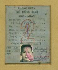 Vietnam War Officer ID 1972 Air Forces Military Passport Thẻ Thông Hành Sĩ Quan