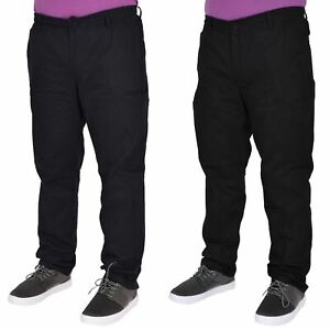 Mens Rugby Trousers Elasticated Waist Drawstring Pants Regular King Sizes