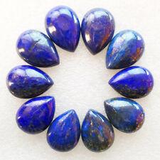 10Pcs Wholesale Lapis Lazuli Teardrop 25x18x7mm CAB CABOCHON M778