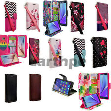 Samsung Galaxy Note 2 Wallet Case Cover Magnetic Leather Flip Slim with Stand