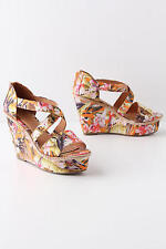 """New Anthropologie Orange """"Floriculture Wedges"""" Shoes  5 Stars  Size 7 SOLD OUT"""