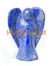 "5"" Lapis Lazuli Semi Beautiful Gemstone Angel Handmade Sculpture Charm Gift G037"