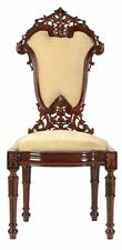 Wooden Chair Handmade / Carved Rosewood Timber with Upholstery #44