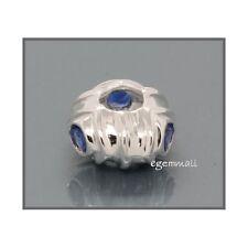 925 Silver Focal Bead w/CZ 12mm European Bracelet 51359