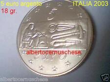 5 euro Italia 2003 ag FDC Europa lavoro Italie Italy Italien Włochy Италия