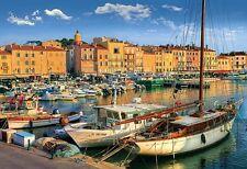 Puzzle Pappe Trefl 1500 Teile Schiff Hafen in Saint Tropez Frankreich NEU 26130