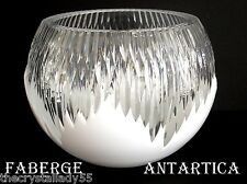 FABERGE GLACON ANTARCTICA OPAL CASED CUT TO CLEAR CRYSTAL CENTERPIECE BOWL SIGND