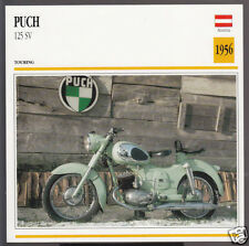 1956 Puch 125 SV (172cc) Austria Bike Motorcycle Photo Spec Info Stat Card