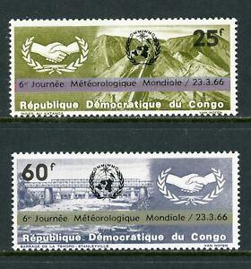 Congo Democratic Republic Scott #559-560 MNH World Meteorological Day CV$2+
