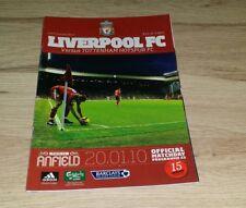 437) Liverpool v Tottenham Hotspur programme premier league 20-1-2010