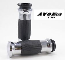 "Avon Chrome Gel Motorcycle Grips 1"" Handlebar 08-14 Harley Davidson"