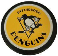 HOLE! PITTSBURGH PENGUINS VINTAGE NHL OFFICIAL GENERAL TIRE SLUG HOCKEY PUCK🇨🇦