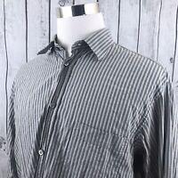 Ermenegildo Zegna Sport Mens Long Sleeve Striped Button Down Shirt Size XL