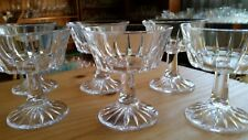 Six Vintage Heavy Crystal Champagne Glasses