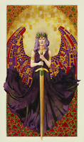 Fantasy SOLSTICE Klimt GODDESS Angel CARD Warrior PAGAN Wicca ART