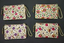 Lot Of 100 Indian Handmade Embroidered Pouch Wedding Favor Bag Return Gifts