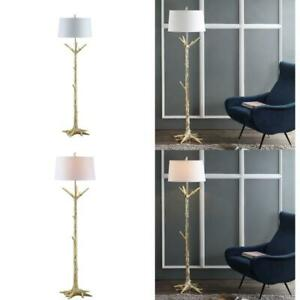 Thornton 64.5 in. Gold Floor Lamp with Off White Shade