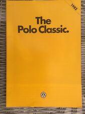 Volkswagen Polo Classic 1982 UK Market Sales Brochure C Formel E CL GL