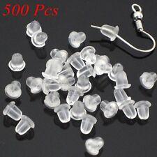 Hotselling 500Pcs/Lot Rubber Earring Back Stoppers Ear Post Nuts Ear Findings