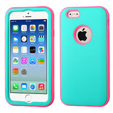 Apple iPhone 6 6S Rubberized Candy Color Dual-Layer Cover Case Glow-in-the-Dark