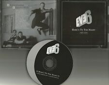 EVE 6 Here's to the Night 2000 ULTRA RARE PROMO Radio DJ CD single USA rdj 60356