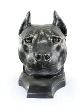 American Staffordshire Terrier, dog head urn made of Resin, ArtDog, Usa