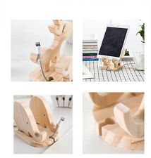 iPhone Mobile Phone Desk Wood Stand Holder Folding Portable Xmas Christmas Gifts