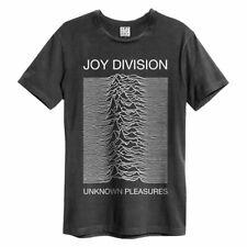 Amplified Joy Division - Unknown Pleasures - Men's Charcoal T-Shirt