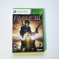 Fable III (Microsoft Xbox 360, 2010) Complete with Manual