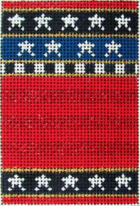 HP Needlepoint 18ct KELLY CLARK Stars & StripesRed Striped Firecracker(KIT)-KT3