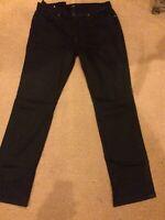 Joes Jeans Slim Stretch Black Twill Chinos Pants Mens 38x34. FREE SHIPPING!!!!!!