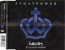 """WILL.I.AM featuring JUSTIN BIEBER """"THAT POWER"""" RARE CD SINGLE / THE FUGEES"""
