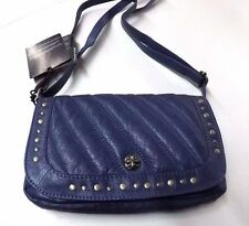 97777-16VW  Harley-Davidson® Womens Studded Cross B&S Crossbody Blue Leather Bag