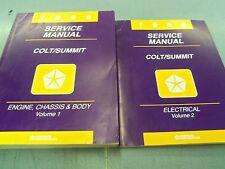 1996 Dodge Colt Summit Volumes 1 & 2 OEM Service Manuals FREE Shipping!!!