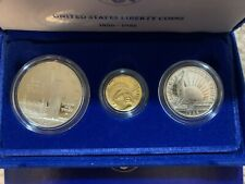 1986 Statue of Liberty 3 coin set gold silver