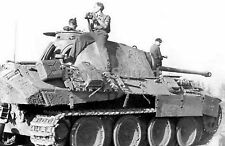WW2 Picture Photo German thank Panther number 631 with crew France 1943 1245