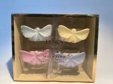 NEW Lenox American by Design SET OF 4 PASTEL PORCELAIN BUTTERFLY NAPKIN RINGS