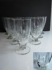 10 Vintage Quality Cut Crystal ICED TEA GLASSES Dots Thumbprint Vertical Lines