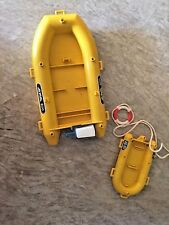 Vintage Playmobil Scuba Diver Boat/Raft Alpha 800 With AX-317 Life Raft