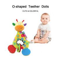 Newborn Baby Soft Plush Toy Lovely Teether Rattle Teething Toy Giraffe 13.5*25cm
