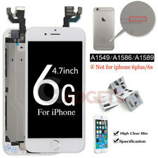 White Screen for iPhone 6 4.7 Replacement Digitizer Touch LCD Home Button Cam