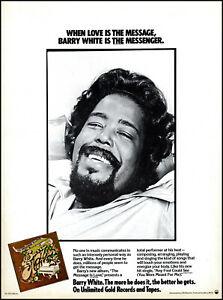 1979 Barry White The Message is Love Album Release retro photo print ad  XL