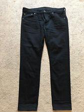 EUC Men's Black Next Level Flex AMERICAN EAGLE Jeans Size 38 X 32 SKINNY