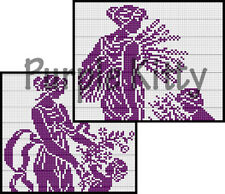 Spring & Autumn Filet Crochet Pattern - Vintage Anne Orr (ANNE1)