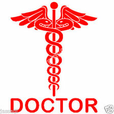 Reflective RED Doctor Decal / Sticker for any Car
