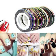10 Rolls Striping Tape Line DIY Nail Art Tips Sticker Decor Manicure Accessories